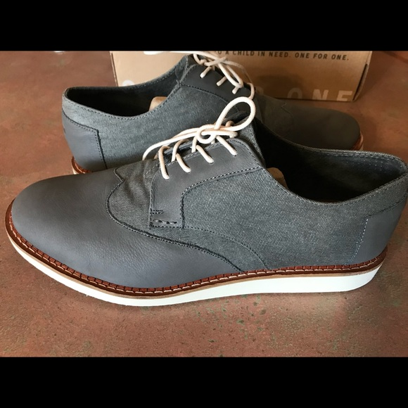 7c991fdc602 Men s Toms Brogue Shoes   Dark Grey Leather